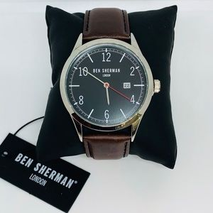 BEN SHERMAN Watch With Genuine Leather Strap